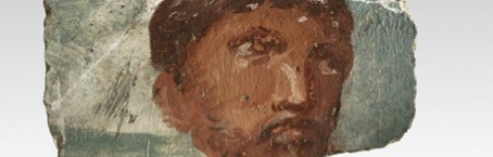 Part of a roman wall-painting