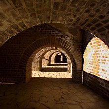 Vaults of the reconstructed amphitheatre.