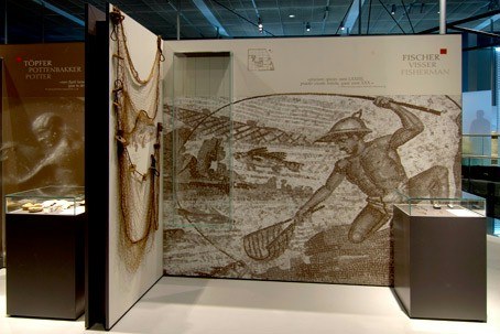 An exhibition wall on Roman fishermen.