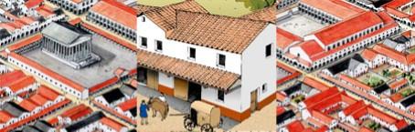 Szenen aus dem Lebensbild der römischen Stadt.
