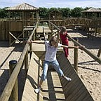 Children playing on the playground.